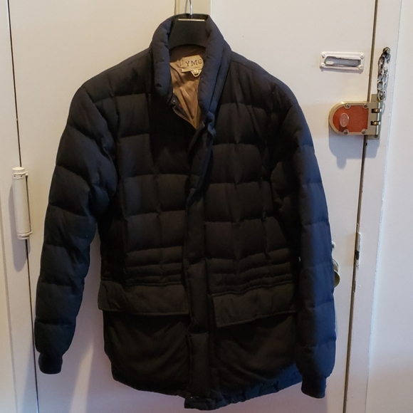 YMC Other - YMC quilted down coat navy blue medium